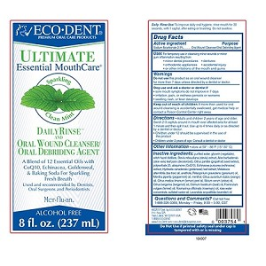 ECO-DENT SPARKLING CLEAN MINT DAILY MOUTH RINSE 8 FL. OZ.