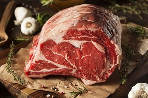 Holiday Beef Standing Rib Roast ($12 lb.) to be billed after cut & weighed.